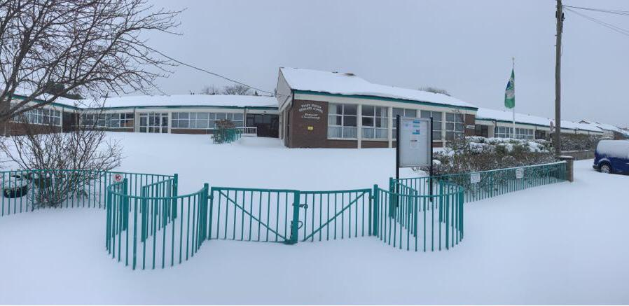 Taney School under snow!
